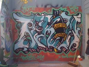 Graffiti Art by the Apprentice at Lefty's