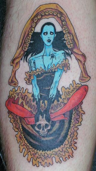 zombie girl tattoo. the zombie girl tattoo.